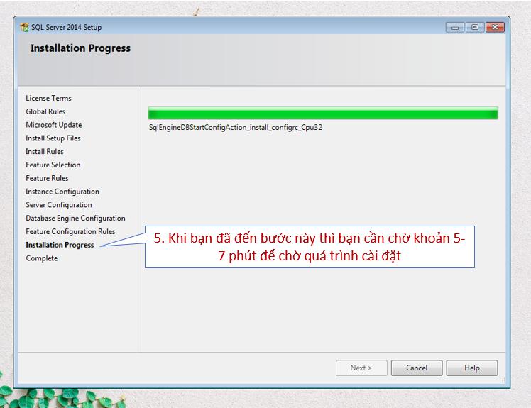 Màn hình chờ SQL server